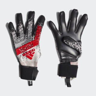 Predator Pro Hybrid Gloves Silver Metallic / Black / Hi-Res Red DY2617