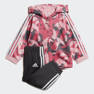 Shiny Jogginganzug Light Pink / Semi Solar Pink / Grey Four / White DV1240