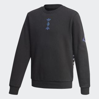 Sweat-shirt Large Logo Crew Black / Team Royal Blue FU0799