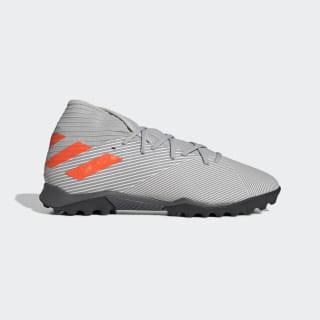 Calzado de Fútbol Nemeziz 19.3 Césped Artificial Grey Two / Solar Orange / Chalk White EF8291
