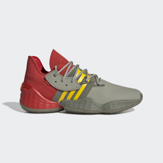 Harden Vol. 4 Shoes Red / Feather Grey / Legacy Green EF9928