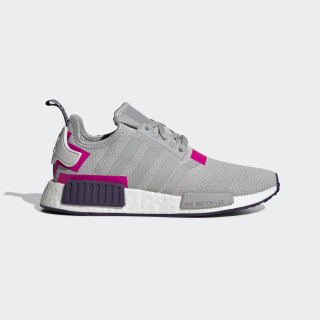 NMD_R1 Shoes Grey Two / Grey Two / Shock Pink BD8006