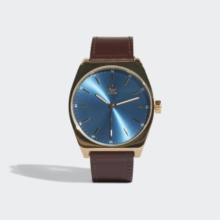 Hodinky PROCESS_L1 Gold Met. / Blue / Dark Brown CJ6352