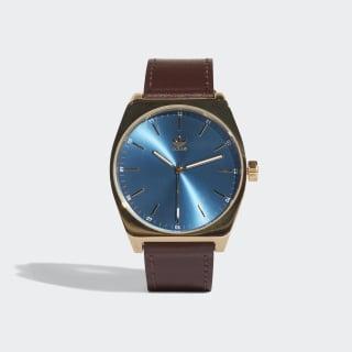 PROCESS_L1 Watch Gold Met. / Blue / Dark Brown CJ6352