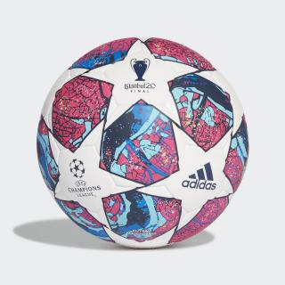 Футбольный мяч UCL Finale Istanbul Pro White / Pantone / Glow Blue / Dark Blue FQ4063