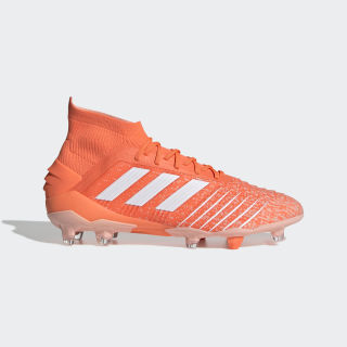 Predator 19.1 Firm Ground Cleats Hi-Res Coral / Cloud White / Glow Pink G25820