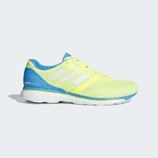 Кроссовки для бега Adizero Adios 4 hi-res yellow / ftwr white / shock cyan B37376