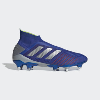 Calzado de Fútbol Predator 19+ Soft Ground Bold Blue / Silver Metallic / Active Red BC0282