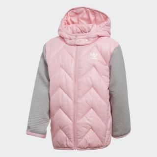 Chaqueta con capucha Trefoil Midseason Light Pink / Mgh Solid Grey DH2469