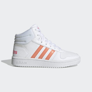Hoops 2.0 Mid Shoes Cloud White / Semi Coral / Real Pink EE6708