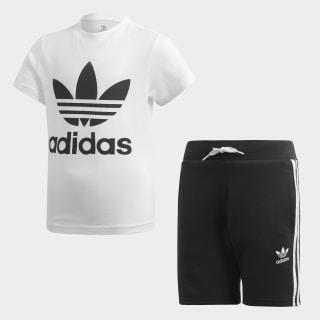 Trefoil Shorts Tee Set White / Black DW9709