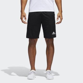 Pantaloneta D2M 3 Rayas BLACK/WHITE BP9111