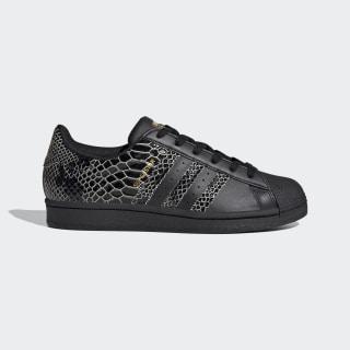 Sapatos Superstar para Mulher Core Black / Core Black / Gold Metallic FV3290