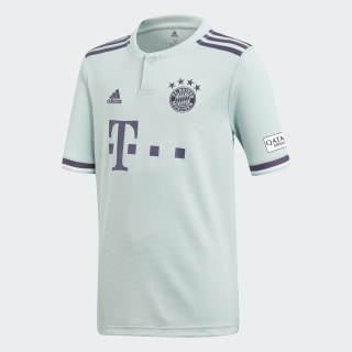 Réplica da Camisola Alternativa do FC Bayern München Turquoise /  Trace Purple  /  White CF5396