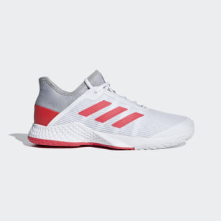 Tênis Adizero Club Light Granite / Shock Red / Cloud White CG6344