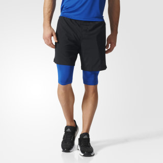 Shorts Dos-en-Uno Climacool Speed BLACK/COLLEGIATE ROYAL BK6171