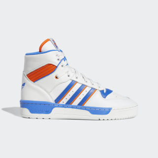 Rivalry High Shoes Crystal White / Blue / Orange F34139