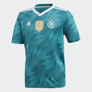 Camisa Oficial Alemanha 2 Juvenil 2018 EQT GREEN S16/WHITE/REAL TEAL S10 BR3146
