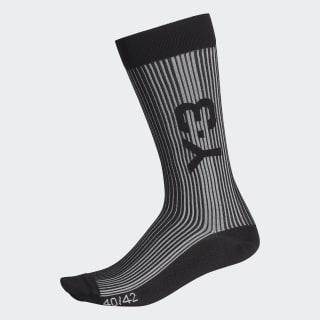 Y-3 Ribbed Socks Black / Core White FR2823