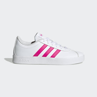 Tênis VL Court 2.0 Cloud White / Shock Pink / Cloud White EG6155
