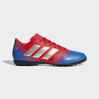 Chuteira Nemeziz Messi Tango 18.4 Society Active Red / Silver Metallic / Football Blue D97261