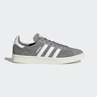 Tenisky Campus Grey Three / Footwear White / Chalk White BZ0085