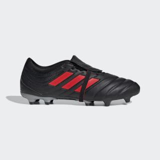 Calzado de fútbol Copa Gloro 19.2 Terreno Firme Core Black / Hi-Res Red / Silver Metallic F35490