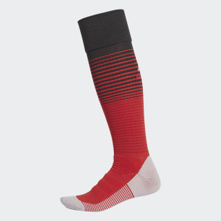 Chaussettes Manchester United Domicile Power Red / Black / Power Red CG0023