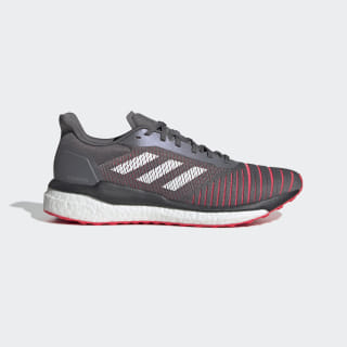 Solar Drive Shoes Grey Four / Cloud White / Shock Red D97450