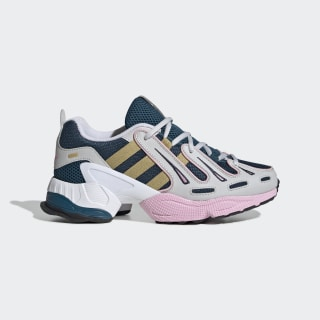 EQT Gazelle Shoes Tech Mineral / Gold Metallic / True Pink EE5149