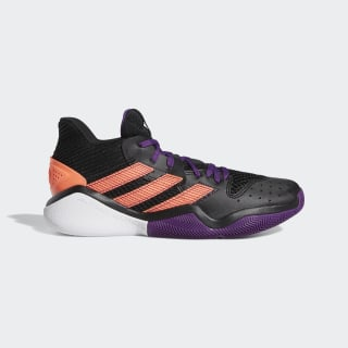 Баскетбольные кроссовки Harden Stepback core black / glory purple / signal coral EF9889