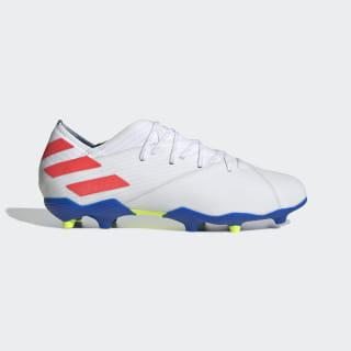 Nemeziz Messi 19.1 Firm Ground Boots Ftwr White / Solar Red / Football Blue F99934