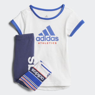 Conjunto Mini Me Sport ID WHITE/HI-RES BLUE S18/REAL CORAL S18 NOBLE INDIGO S18/WHITE/HI-RES BLUE S18/REAL CORAL S18 CF7436