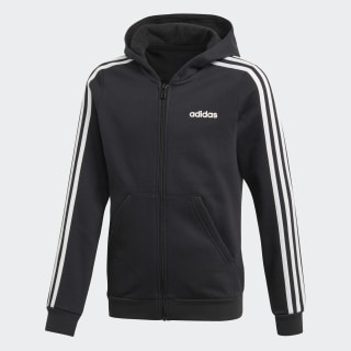 Hoodie 3-Stripes Black / White EH6120