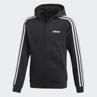 Sudadera con Gorro 3 Franjas Black / White EH6120