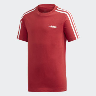 Essentials 3-Stripes Tee Active Maroon / White EI7983