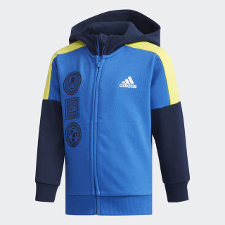 Fitted Hoodie Collegiate Navy / Blue / Shock Yellow DW4032