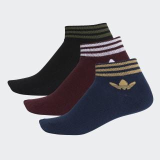 Trefoil Ankle Socks 3 Pairs Maroon / Collegiate Navy / Black DV2009