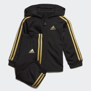Súprava Shiny Hooded Jogger Black / Gold Met. ED1141