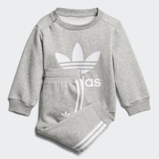 Trefoil Crew Track Suit Medium Grey Heather / White DL8637