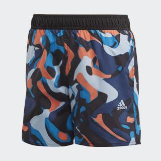 Plavecké šortky Primeblue Black / Sharp Blue FL8723