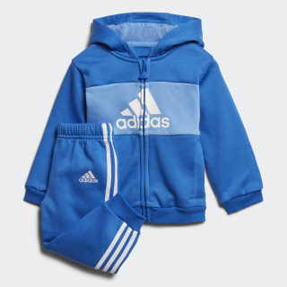Logo Hooded Jogger Set Blue / White / White ED1165