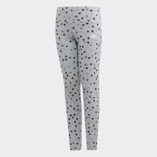 Леггинсы Must Haves Graphic medium grey heather / black / white ED4610