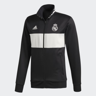 Chaqueta 3 Tiras Real Madrid BLACK/CORE WHITE CW8698