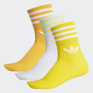 Calcetines Clásicos Mid-Cut 3 Pares Active Gold / Yellow / White ED9397