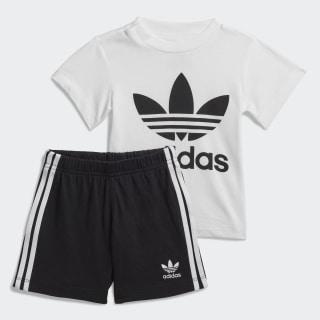 Conjunto Calções e T-shirt Trefoil White / Black FI8318