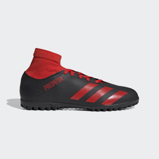 Predator 20.4 S Turf Boots Core Black / Active Red / Core Black EE9584
