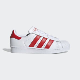 Superstar Shoes Cloud White / Red / Cloud White EE4024