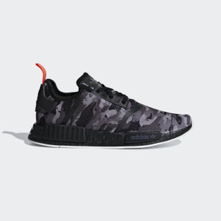 NMD_R1 Shoes Grey Four / Grey Four / Solar Red G28414