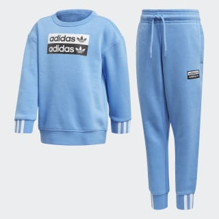 R.Y.V. Crewneck Sweatshirt Set Real Blue ED7782